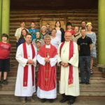 22 - After the Sunday liturgy in the church in Tuim